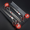SUS440C Professional PET GROOMING SCISSORS,8 inch Cutting & Thinning & Curved Scissors+ Steel comb + kits D238
