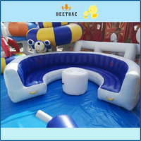 Cheap White Inflatable Modern Lounge Sofa for Party / PVC Round Inflatable Chair