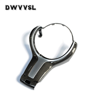 Steering Wheel Trim Cover Carbon Fiber For BMW 5 Series F10 F11 F18 2010 2016 LHD RHD Car Styling Interior Accessories By DWVVSL