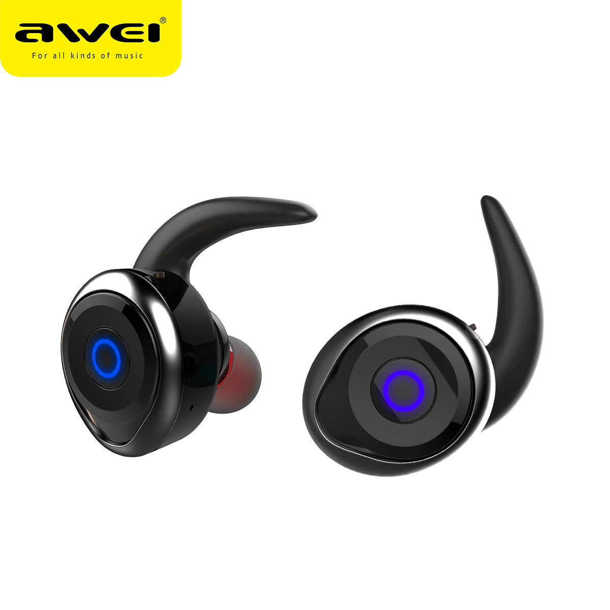 AWEI T1 TWS Bluetooth Headphones wireless Earphone Headset Double Wireless Earbuds Cordless Headphones Bluetooth V4.2 awei a920bls bluetooth earphone wireless headphone sport headset with magnet auriculares cordless headphones casque 10h music