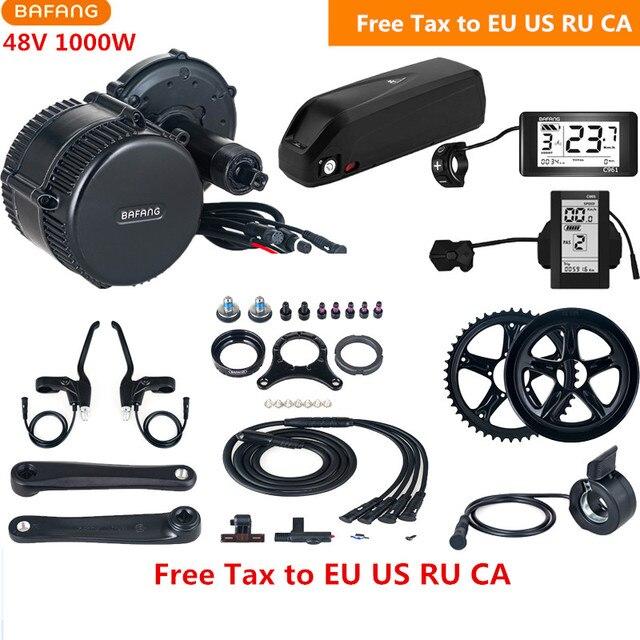 Bafang 8fun BBSHD BBS03 Mid Drive Motor Kits 48V 1000W With 48V 13AH Lithium Battery C961 C965 For Electric Bike Conversion Kit