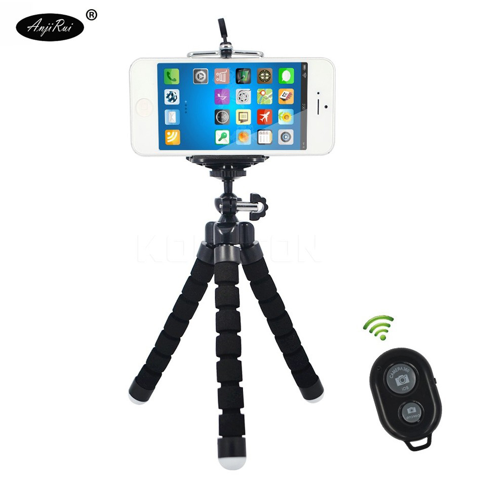 Mini Flexible Tripod Phone Holder Clip Bluetooth Remote Shutter for Gopro Hero 3 4 for iPhone 7 8 Huawei xiaomi mi5s Phone stand