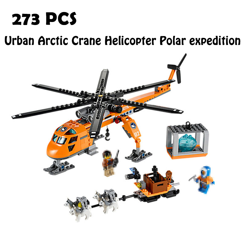 Compatible with lego 60034 Models building 10439 273pcs Urban Arctic Crane Helicopter Polar expedition Building Blocks & hobbies 196pcs building blocks urban engineering team excavator modeling design