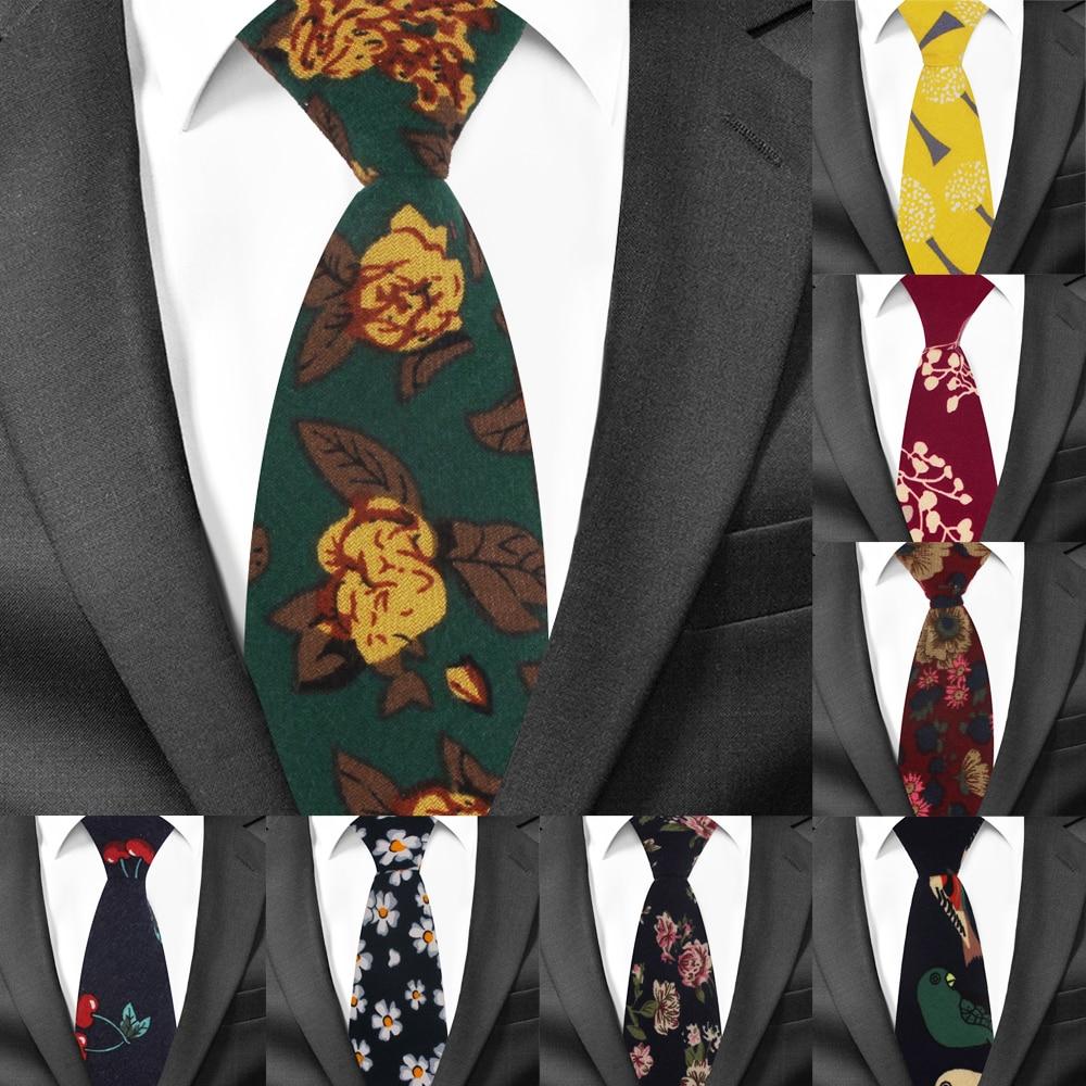 Boy's Necktie Cotton Floral Neck Tie For Children Suits 6cm Print Ties Slim Girls Tie Gravatas
