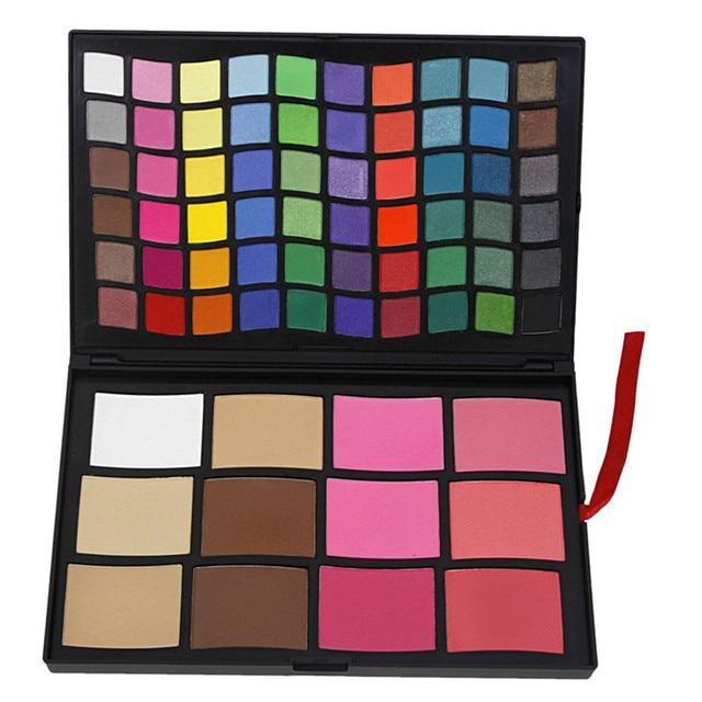 Completo 72 Color Shimmer Eyeshadow Palette Maquillaje Profesional Set Sombra De Ojos Se Ruboriza Polvo de Cara Cosmético Kit