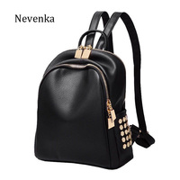 NEVENKA Women Fashion Backpack Female Printing Casual Backpacks Girl Embroidery School Bag Lady Rivet Ms Classic