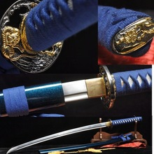 HANDMADE JAPANESE SAMURAI SWORD KATANA 1060 HIGHCARBON STEEL BLUE VERY SHARP