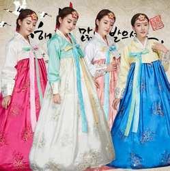 Корейский этнический ханбок женский традиционный костюм для выступлений сладкий дворцовый корейский Свадебный танцевальный костюм для