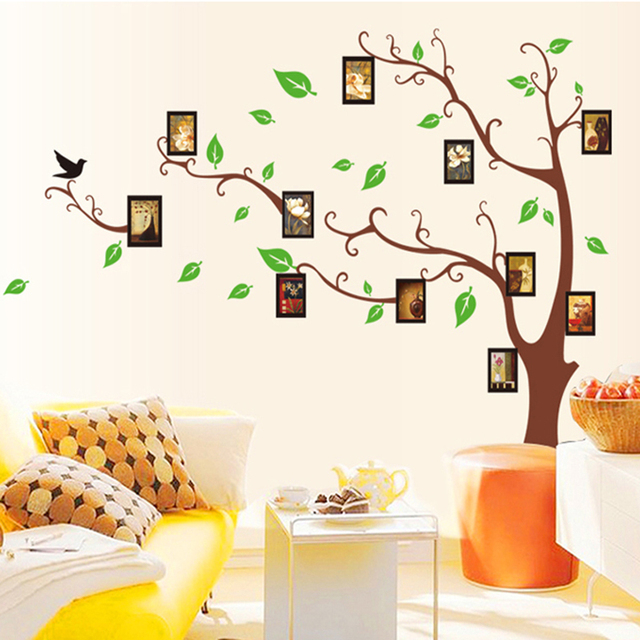 Family Tree Photo Frame Mural Wall Sticker Home Decor Room Decals Poster Living  Room TV Sofa