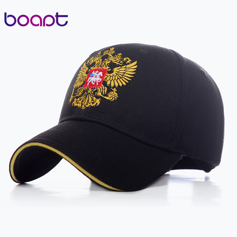 Unisex Cotton   Baseball     Caps   Russia Badge Embroidery Snapback   Cap   Fashion Summer Outdoor Sports Adjustable Hip Hop Hat For Men