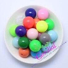 Venta caliente Del Envío Libre 20 MM 100 unids Mix Color Chunky Acrílico Perlas Sólidas, Granos coloridos Chunky Para La Joyería