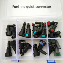 High quality one set SAE Fuel Urea pipe fittings auto Fuel line quick connector kit whole set total 22pcs for car