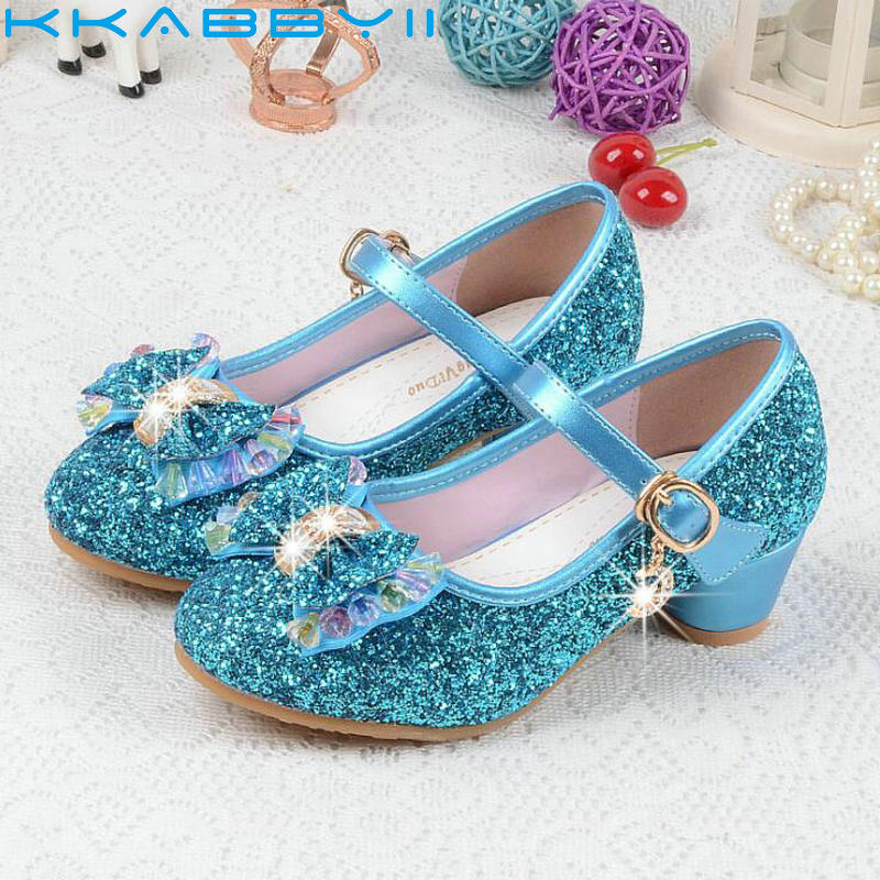 New Butterfly Children Princess Sandal Girls Bowtie Hight Heels Party Dance Sandals For Baby Girls Kids Leather Shoes Size 26-37New Butterfly Children Princess Sandal Girls Bowtie Hight Heels Party Dance Sandals For Baby Girls Kids Leather Shoes Size 26-37