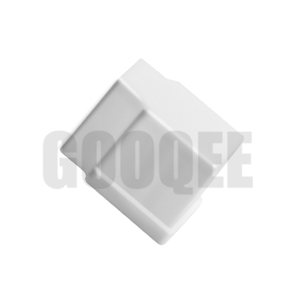 White Plastic Solenoid Valve Waterproof Cover Water Valve Lid