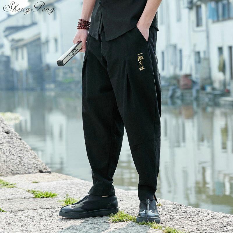 Штаны в китайском стиле Брюс Ли, штаны для кунг фу, китайский магазин одежды, традиционная китайская одежда для мужчин, Шанхай, Тан Q044|Штаны| | АлиЭкспресс