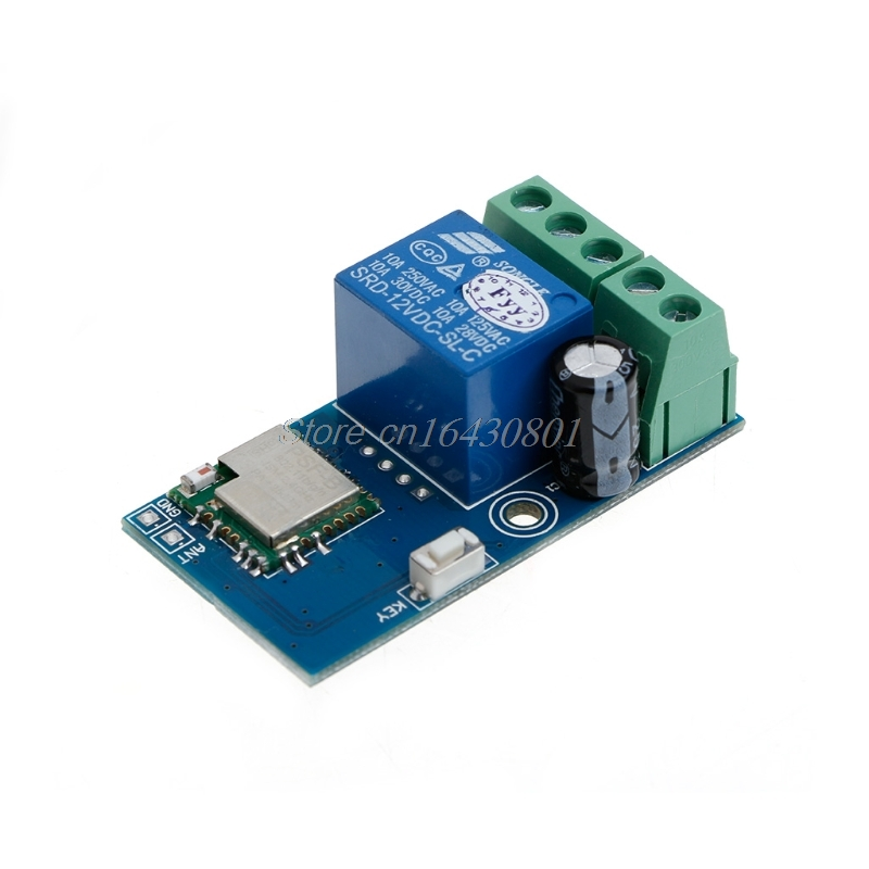 DC 12V Wireless Wifi Relay Switch Module Mobile Phone Timer Self-Lock Low Power Relay For Android IOS Smart Home dc 5v 12v jog self lock smart wifi wireless switch relay module by app control
