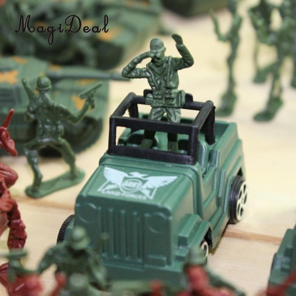 307 Piece Plastic Soldier 4cm Army Figures Playset Army Sand Scene Model Toy