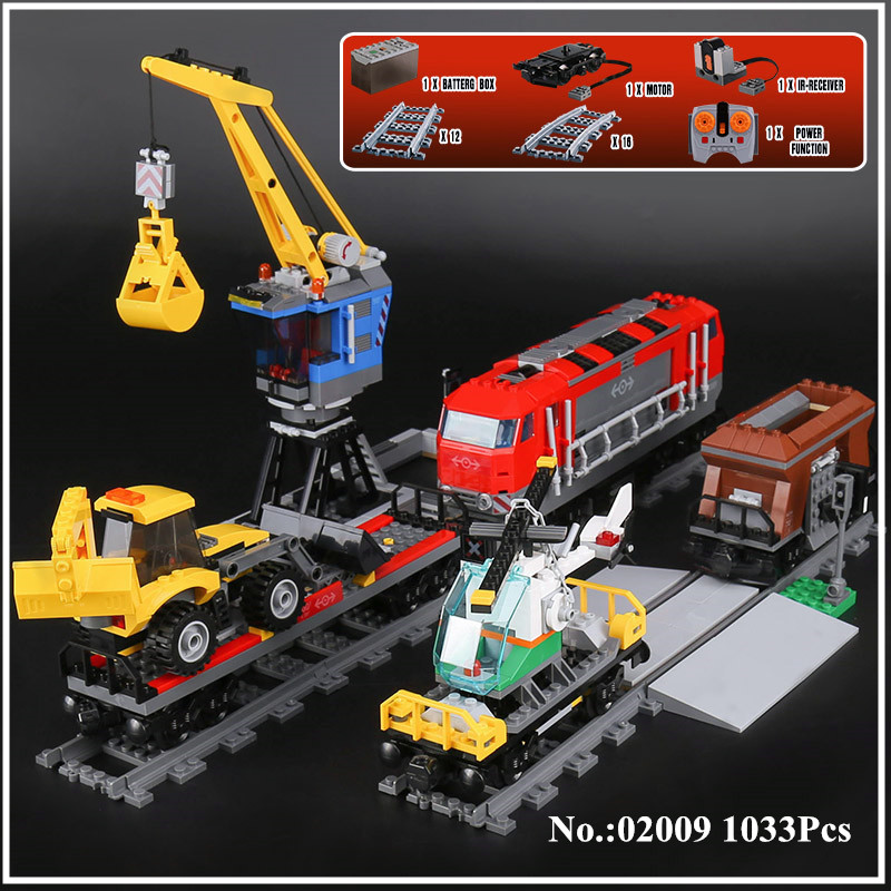 H&HXY In Stock 02009 1033Pcs City Series The Heavy-haul Train Set Building Blocks Bricks Educational Toys Model lepin Boy`s Gift in stock lepin 23015 485pcs science and technology education toys educational building blocks set classic pegasus toys gifts