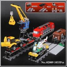 H&HXY In Stock 02009 1033Pcs City Series The Heavy-haul Train Set Building Blocks Bricks Educational Toys Model lepin Boy`s Gift