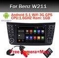Android 5.1 Quad Core Dvd-плеер Автомобиля для Mercedes/Benz E Class W209 W219 W211 Андроид 3 Г WI-FI Радио Стерео GPS 3 Г Bluetooth SD