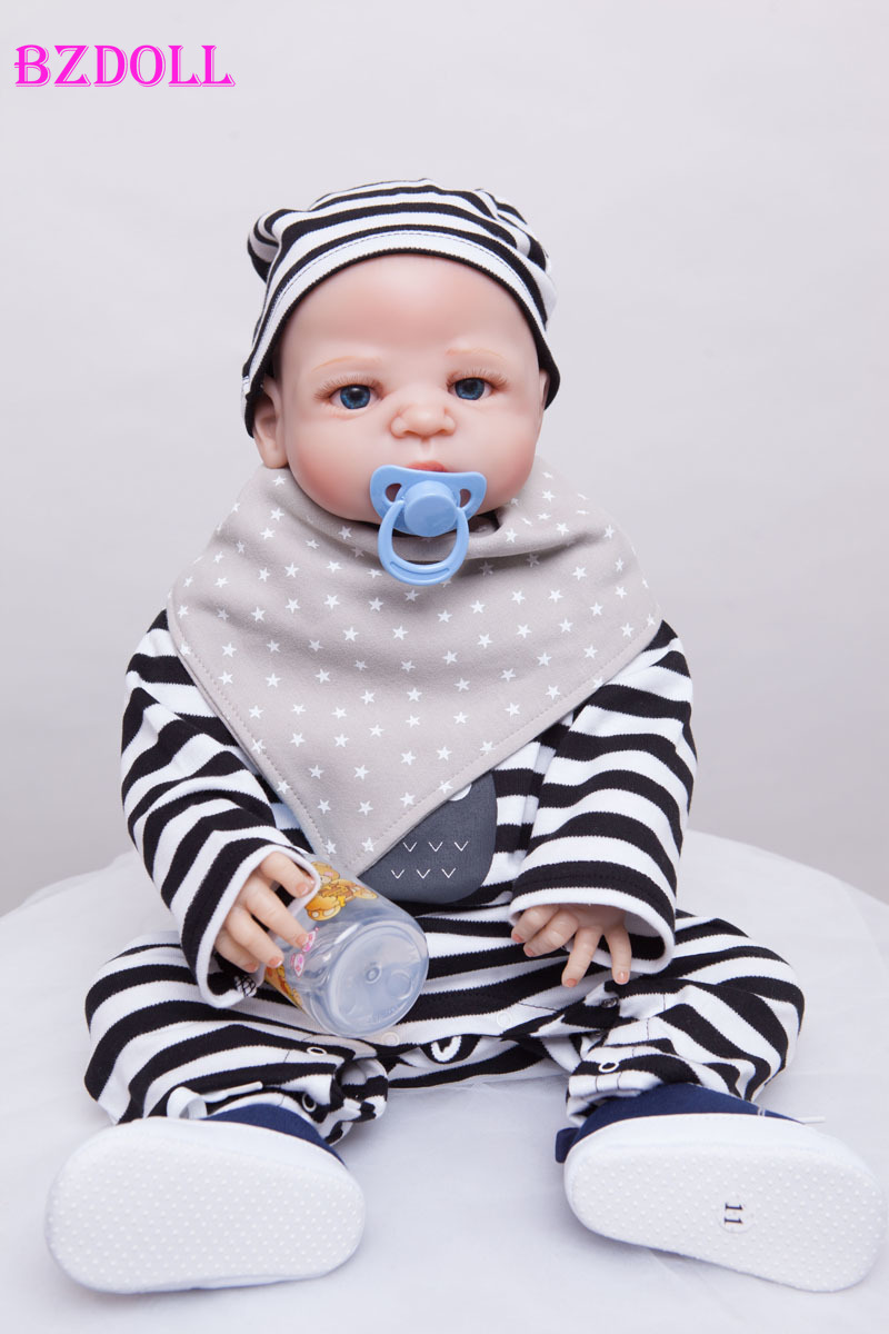 55cm Full Silicone Reborn Boy Baby Doll Toys Bathe Shower Toys Babies Reborn Doll Christmas Present Birthday Gift Girls Brinqued