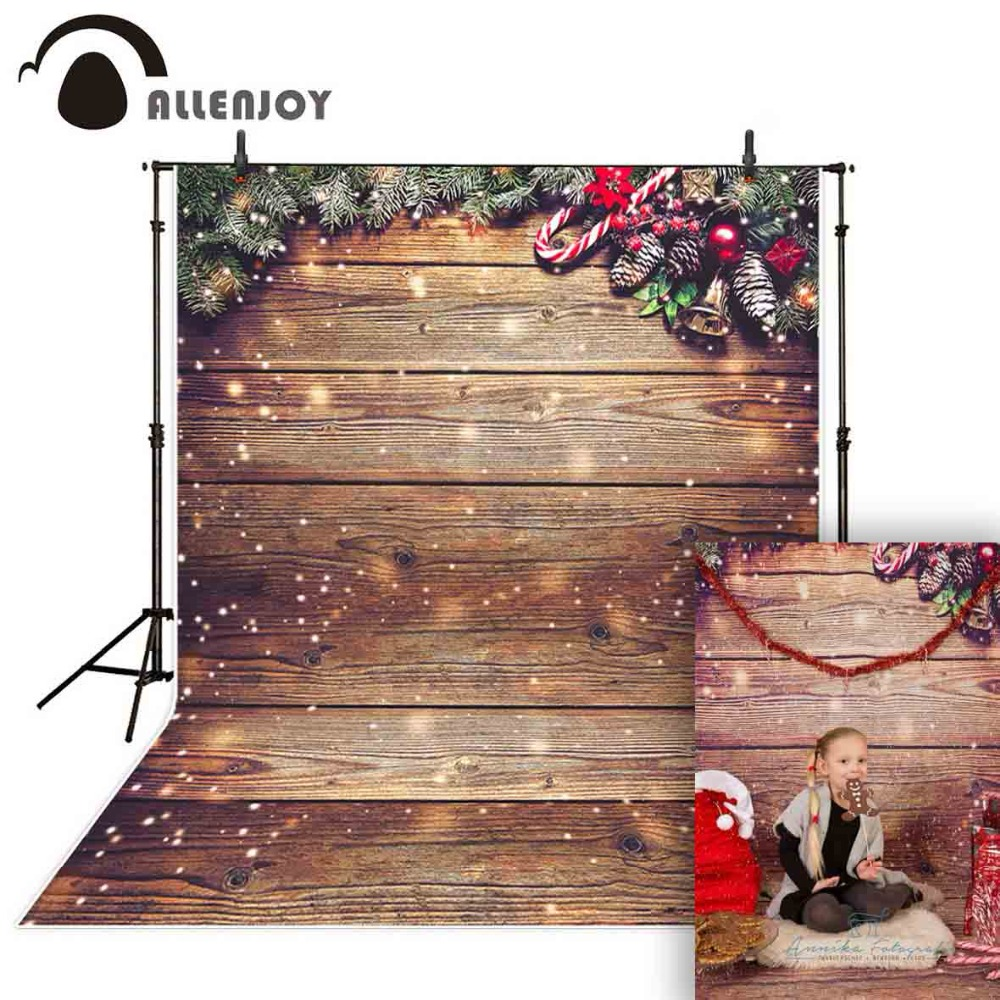 Adroit Allenjoy New Photography Background Christmas Bokeh Wood Crutch Leaves Backdrop Photocall Photographic Professional Good Heat Preservation