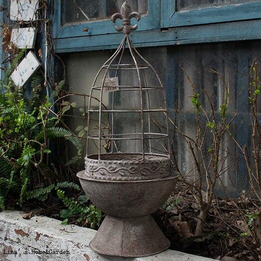 Vintage Wire Urn Planter Rustic Wire Outdoor Decor