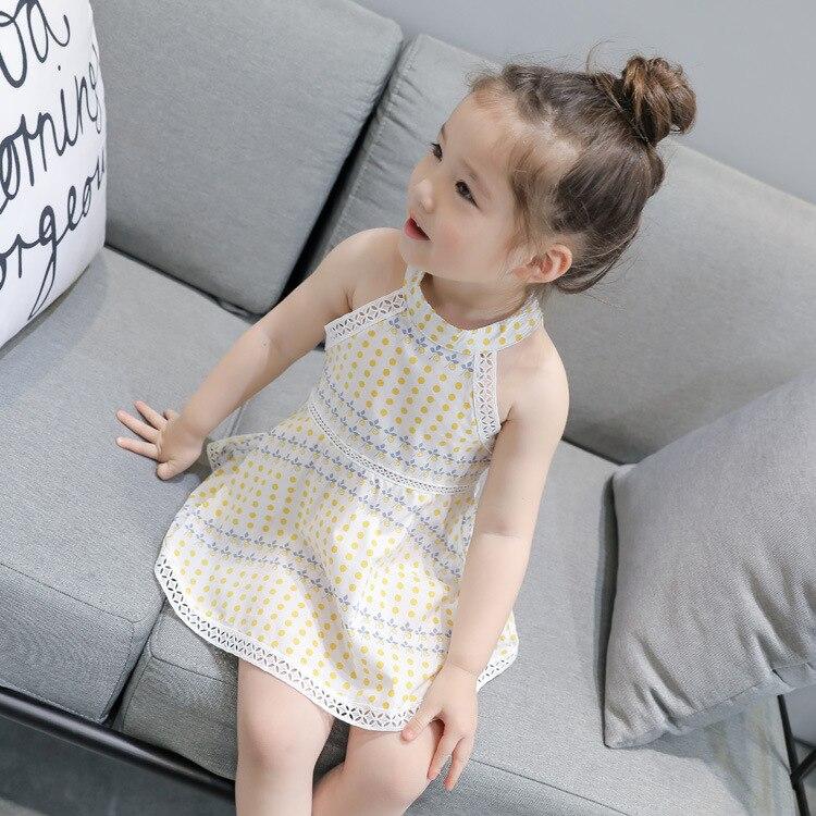 fea85d898 Girls  Vest Dress 2018 Cool Summer Baby Dot Dress Children s ...