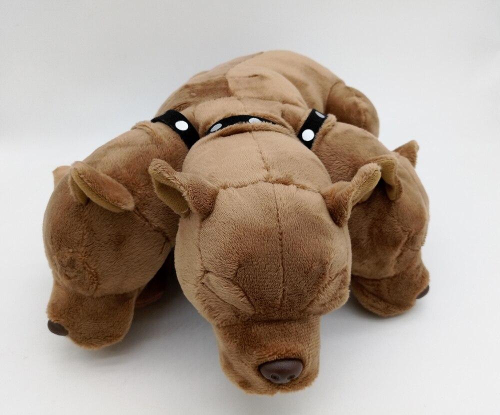 NEW Stuffed Plush Toy Doll 3 Header Dog