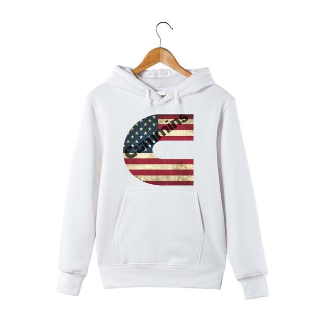 Cummins Printed Hoodie Cummins American Flag Pullover Hoodie Sweatershirt