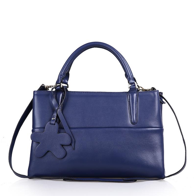 Fashion Women Split Leather Handbags Ladies Cowhide Brief OL Tote Crossbody Shoulder Bags Female Brand Bolsas QZ2530