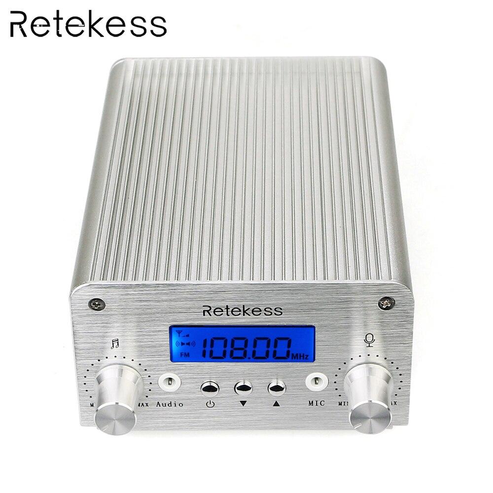 Retekess TR501 6W PLL FM transmetteur Mini Radio stéréo Station sans fil diffusion + puissance + antenne voiture théâtre Campus diffusion