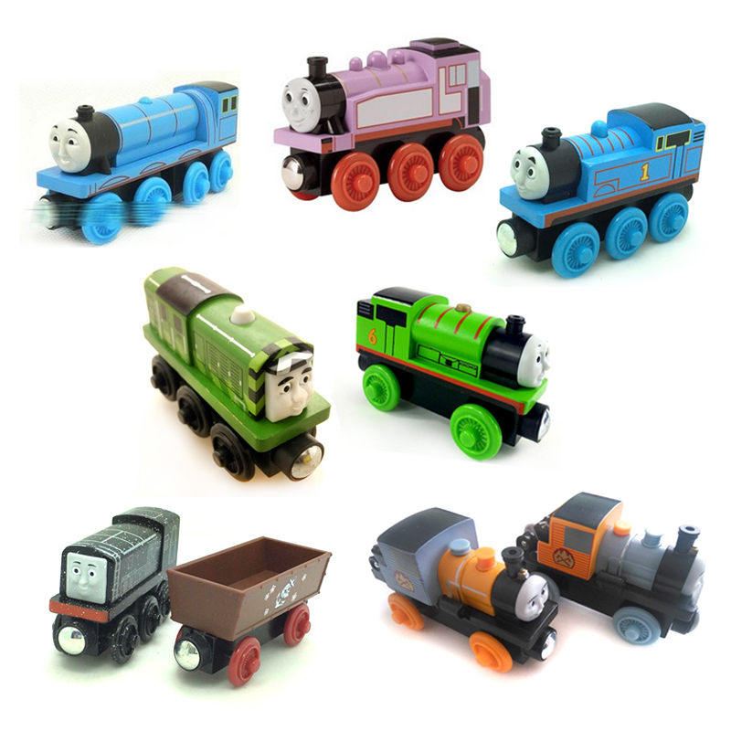 w27 Thomas and Friends BASH & DASH,diesel and cargo,SALTY,Thomas ,ROSIE,Gordon oversion Wooden Magnetic Train Models Kids Gifts