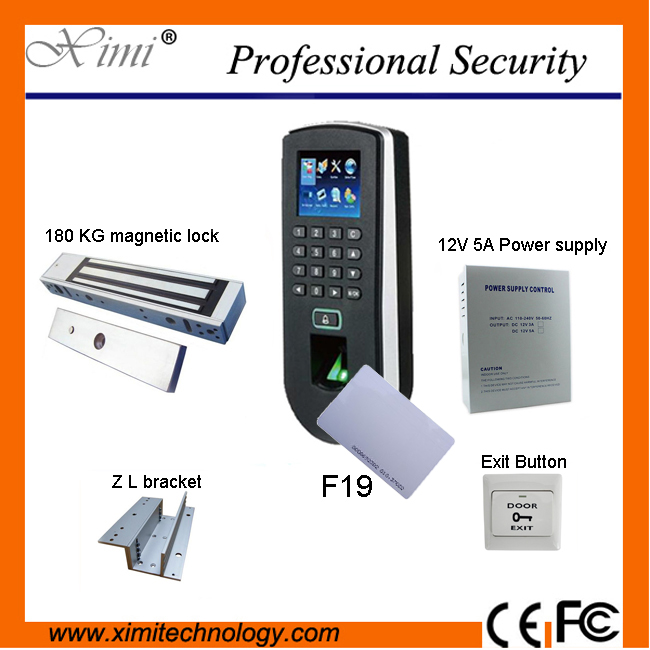 DIY ZK independent biometric fingerprint test and access control system F19 access controller component optional ID card