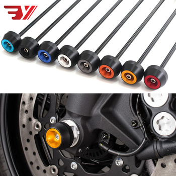 For YAMAHA MT07 MT-07 2014-2018 CNC Aluminum Modified Accessories Motorcycle drop ball / shock absorber Axle Protection Wheel