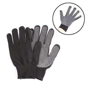HOT Sale 1 Pair Hair Straightener Perm Curling Hairdressing Heat Resistant Finger Glove Black Grey Color #82683