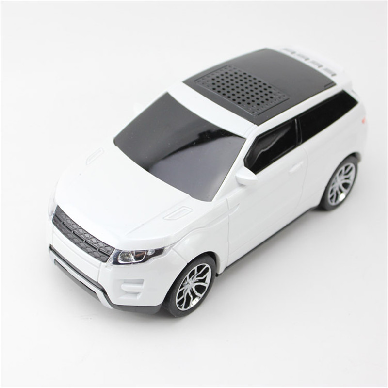 Fashion Mini Car Vehicle Shape Bluetooth Speaker FM Radio USB Micro SD TF Card MP3 Stereo Subwoofer for iPod PC Cellphone