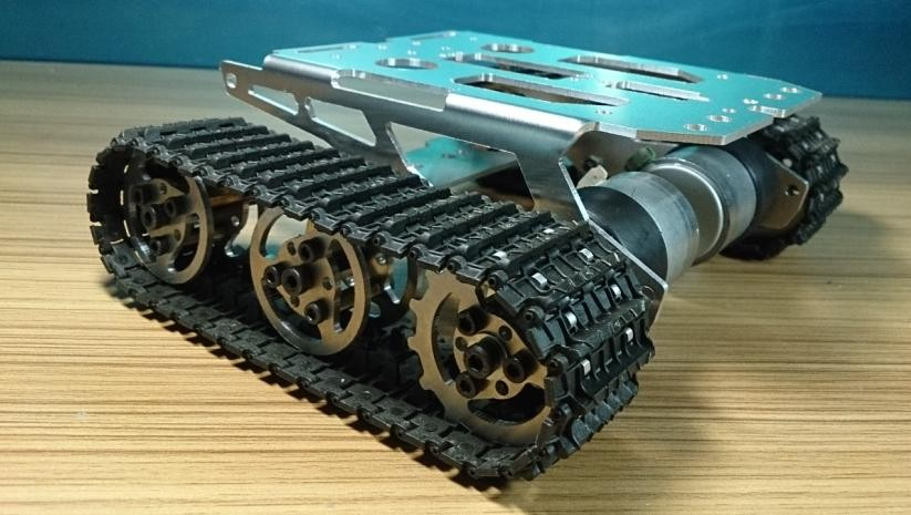 RC Metal Tank Chassis Robot Crawler Tracked Tank Chassis Smart Car Chassis Tracked Vehicle DIY RC Toy Remote Control Mobile official doit caeser ts600 4wd damping tracked metal tank car chassis smart robot toy robotic competition