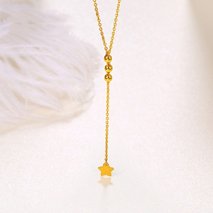 Image 2 - 24 18k 純金ネックレスリアル au 999 純金チェーン美しい葉高級流行の古典的なパーティーファインジュエリーホット販売新 2020