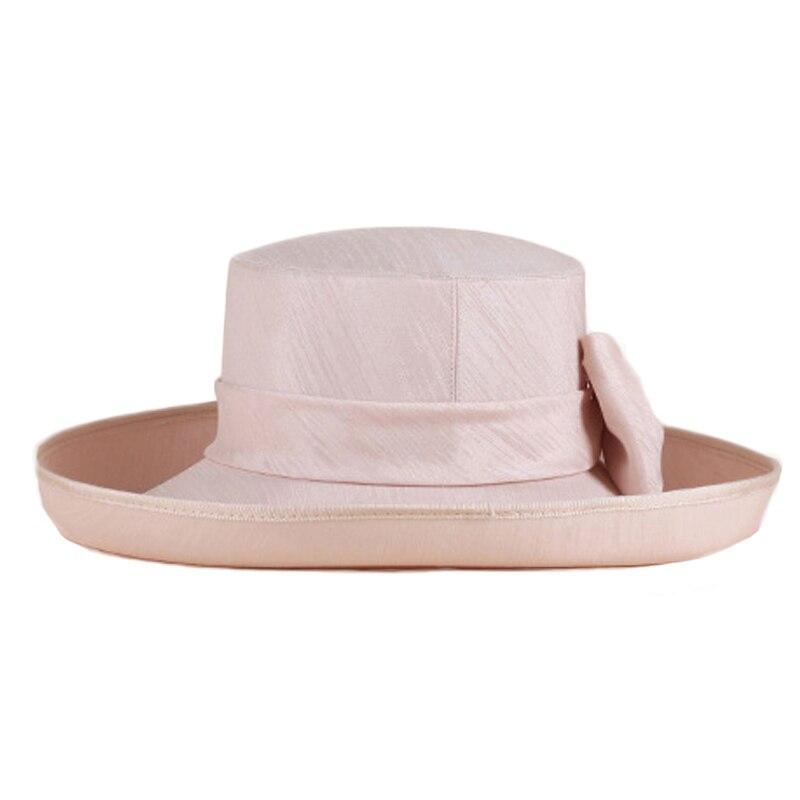 FS ala ancha elegantes sombreros de la iglesia para las mujeres verano 2018  moda con Bowknot Kentucky Derby sombreros Fascinator en Sombreros de  fieltro de ... f82a27d0bd3