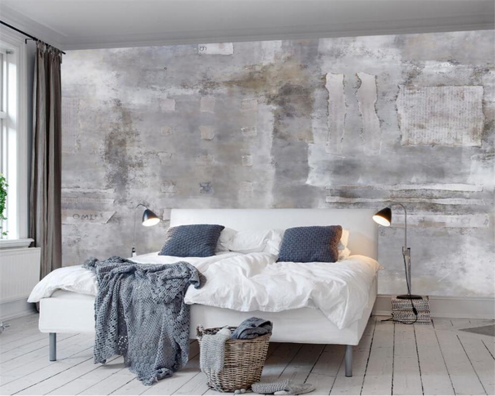 Beibehang personalizado papel de parede decoração para casa murais euro retro nostalgia mural da parede fundo da parede de concreto 3d
