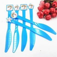 6pcs/set Unicorn Plastic Knives Kids Birthday Party Decoration Baby Shower Supplies Boys Set Favors