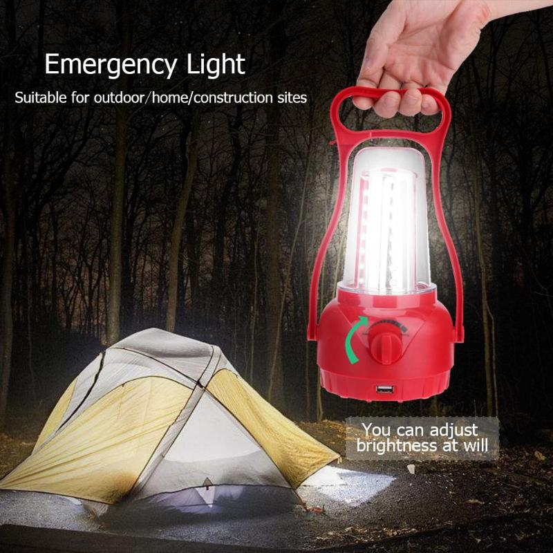 35LED Solar Light Outdoor Camping Tent Light Multifuction Portable Lantern Emergency Lighting Building Site Warehouse Work Light
