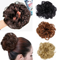 1PC Synthetic Hair Bun Extension Elastic Hair Rope Curly Wavy Scrunchee Hairpiece Donunt Buns Chignons Messy Hair Chignon