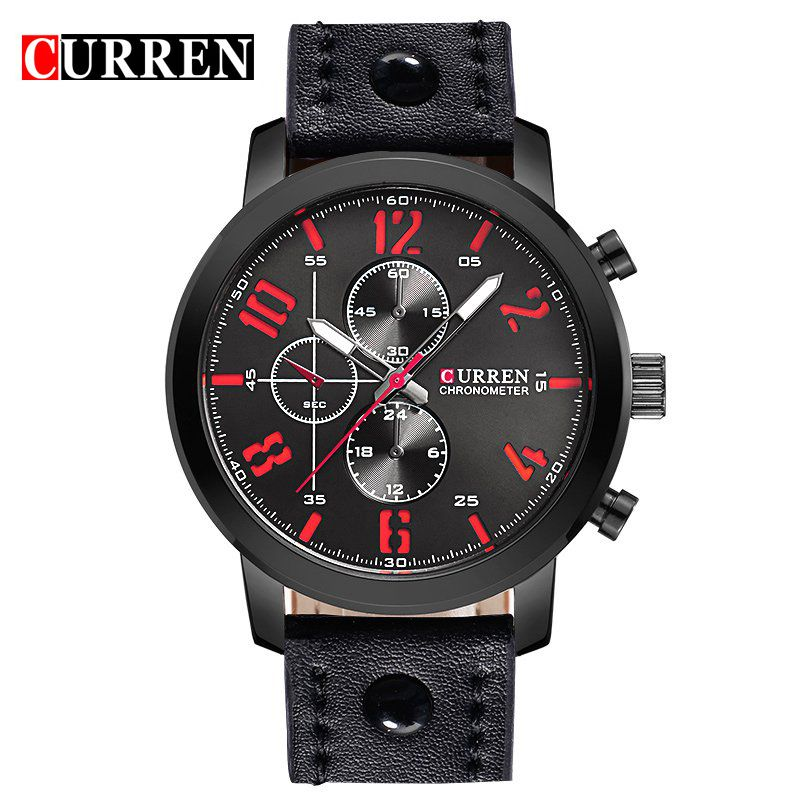 CURREN Luxury Casual Male Wristwatches Relogio Masculino Montre Homme Men Watches Analog Military Sports Quartz Watch mens stainless steel band watch with big round dial male analog quartz metal sports wristwatch relogio masculino montre homme