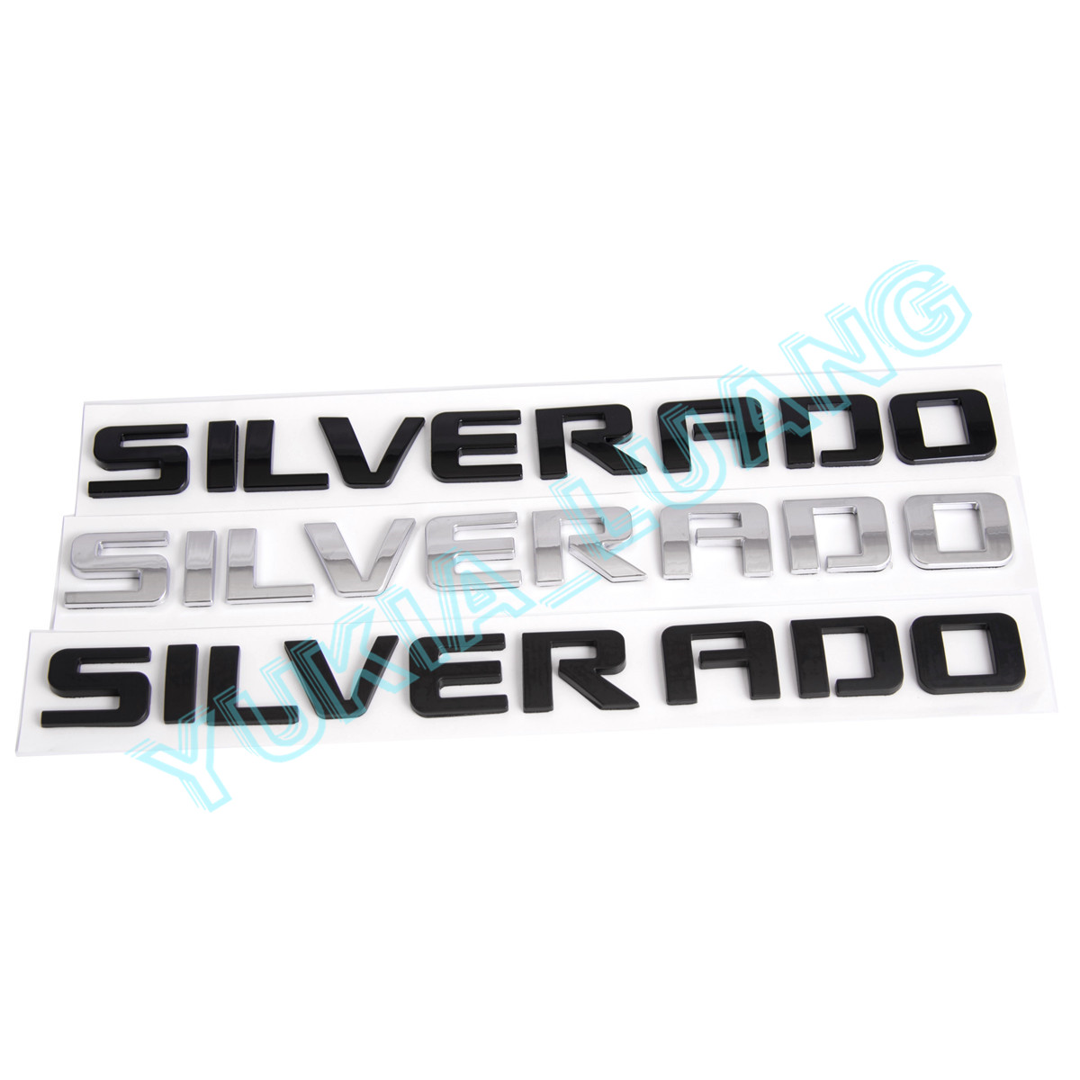 2PCS Matte Black SIERRA 3D Rear Tailgate /& Door Letters Emblem Badge Nameplate