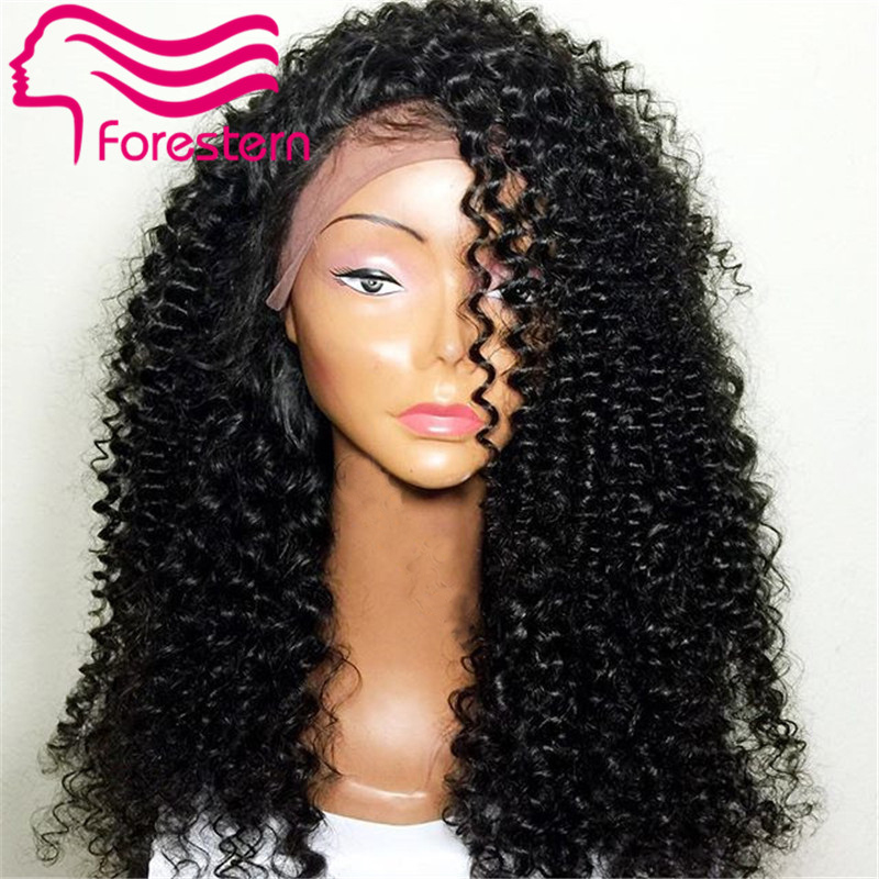 Peruvian Virgin Afro Kinky Wig Short Curly Hair 180 Density 100 Human Hair Glueless Full Lace