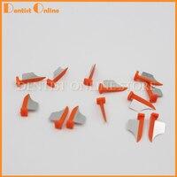 100 unids dental Prime dientes interproximal cuña de plástico con protección dental matriz de acero pequeño y mediano tamaño