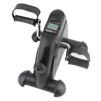 Mini Trainer Exerciser Cycling Fitness Mini Pedal Exercise Black Bike Indoor 4 Legs With LCD Display