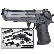 DIY bausteine spielzeug waffe Desert Eagle und BERETTA Revolver wtih kugel kunststoff pistole modell für kinder jungen